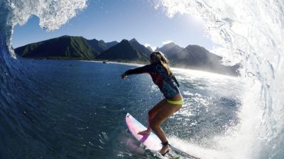 Surfer-Girl Frankie Harrer